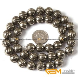"""Wholesale Round Pyrite Beads - Pyrite: 10mm Round Spiral Silver Gray Pyrite Beads Natural Stone Beads DIY Beads For Bracelet Making Strand 15"""" Wholesale !"""