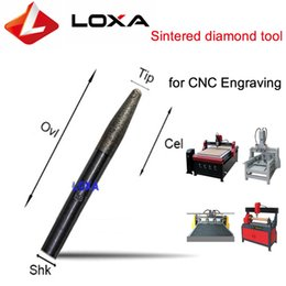Wholesale Diamond Sintered - Factory supply LOXA FQ6-15 Sintered diamond grinding cnc engraving tools ,cnc bits for granite relief end milling cutter   milling tool