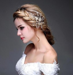 Wholesale Gold Tiara Free Shipping - $11.99 Free Shipping Cheapest 2016 Gold Crystal Comb Bridal Headpiece Bridal Tiaras Crown Wedding Hair Jewelry CPA474