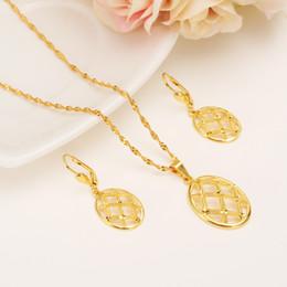 Wholesale Golden Rhombus - Pendant Earrings Rhombus form Diamond set Jewelry Free Necklace 14 k Yellow Gold Solid Fine Filled Reseau 20*30mm