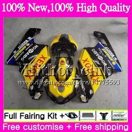 Wholesale Motorcycle Fairings Body Kits - Yellow black Motorcycle Body For DUCATI 749S 999S 749 999 03 04 Bodywork 16HT21 749 999 S 03-04 749R 999R 2003 2004 Motorcycle Fairing kit