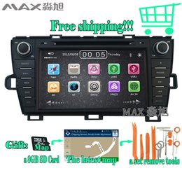 Wholesale Car Mp3 Steering Wheel - FOR Toyota Prius 2008 - 2014 car dvd player With Built-in GPS Navigation 1080P MP4 Player Bluetooth FM AM Radio Steering Wheel Control