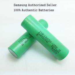 fora da grade solar Desconto 100 Authentic 2500 mah 25R 18650 Bateria Recarregável Samsung 20A Alta Dreno Descarga Baterias De Lítio Para Ecig Vape Mods