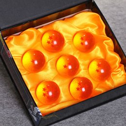 Wholesale Value Glasses - Military Figures Japan Anime Dragon Ball Z Crystal Ball 7pcs set Toys, PVC Goku Action Figures Diameter 4cm Best Value Gift