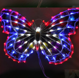 Wholesale Christmas Window Star Lights - Free shipping Outdoor lamp lights chandeliers wedding clothing store window decoration supplies 50 cm big butterfly bowknot activities