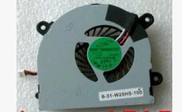 Wholesale Msi Cooler - Wholesale- laptop cpu cooling fan cooler fan for MSI S6000 X600 CLEVO 7872 C4500 FAN AB6505HX-J03 AB6605HX-J03 6-31-W25HS-100 BS5005HS-U89