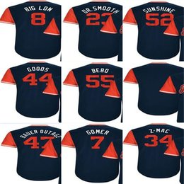 Wholesale Red Dr - 2017-Little League Cleveland Lonnie Chisenhall Big Lon Michael Brantley Dr. Smooth Mike Clevinger Suns Goods Mens Kids baseball Jerseys