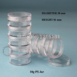 Wholesale Crystal Canisters Wholesale - 10pcs 5*10g PS Cream Jar Plastic Jar Cosmetic Container Empty Makeup Canister Sample Facial Mask Sub-bottling Free Shipping