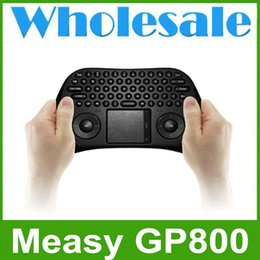 Wholesale Measy Pc Box - Wholesale! Measy GP800 Wireless Mini Air Mouse Keyboard Touchpad for Android TV Box PC