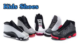 Wholesale Girls Retro 13 - New 2016 Retro 13 Kids Basketball Shoes Children 13s High Quality Sports Shoes Youth Boy Girl Basketball Sneakers For Sale US11C-3Y EU28-35