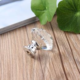 nastri trasportatori Sconti 10pcs 30mm forma di cristallo placcato diamante manopola armadio cassetto estraibile maniglia nuova porta di casa accessori per mobili manopola