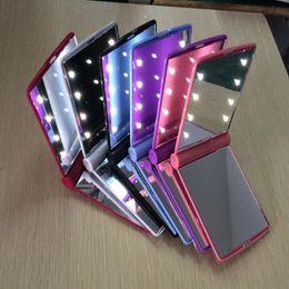 Miroir de maquillage LED Light Mirror Desktop Portable Compact 8 LED lumières éclairées Voyage maquillage miroir ? partir de fabricateur