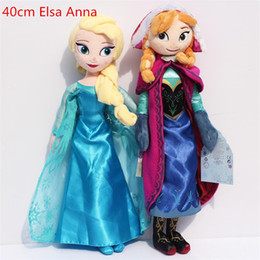 Wholesale Collectible Stuffed Toys - Frozen plush Toy 40cm Princess Elsa Plush Anna Plush Doll Brinquedos Kids Stuffed Dolls Toys Free shipping