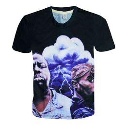 Wholesale America T Shirt Small - w1208 Alisister new fashion men women's 3D t shirt America hiphop rock star Biggie Smalls & Tupac 2pac t shirt harajuku tee shirt tops