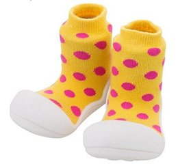 Wholesale White Baby Boy Socks - Dots Children Boots Toddler Shoes Baby Socks For Girl Boy Kids Socks Soft Bottom Non-Slip Floor Rubber Soles