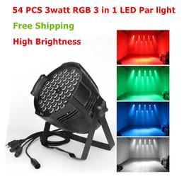2019 luz verde mini pc Portáteis excelente qualidade Auto Som 54 peças 3W três em um RGBW levou par pode lâmpada par