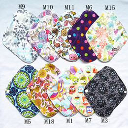 Wholesale Cloth Liners - [Sigzagor]Panty Liner Small Reusable Washable BAMBOO Cloth Pad 8inch Cloth Menstrual Sanitary Maternity Mama Pad, 18 Choices