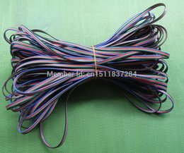 Wholesale Blue Black Red Green Connector - Wholesale-Free shipping 50M 4 Pin LED connector Extension RGB Blue Red Green Black Wire Cable 22AWG For SMD 5050 3528 LED RGB Strip