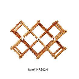Tenedor de lujo del vino del estante de exhibición del vino de la raíz de bambú desde fabricantes