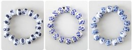 Wholesale Traditional Chinese Ceramics Porcelain - Chinese whole sale Ceramic Jewelry New Arrival Hot Sale Traditional Ethnic Porcelain Jewelry Blue And White Plum Blossom Ceramic Bracelet