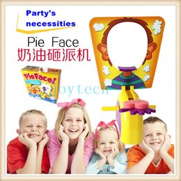 Wholesale Cheap Quality Toys - AAA quality pie face game toys funny ecxiting plastic game toy pie face with cheap price for christmas party,parent children games
