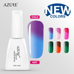Wholesale Gel Polish Prices - 2015 spring Azure new arrival color uv gel hot sales Temperature change gel nail art gel polish lower price Free shipping