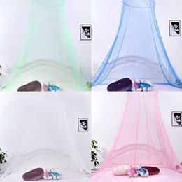 Wholesale Cotton Curtains - Elegant Round Lace Insect Bed Canopy Netting Curtain Dome Mosquito Net New House Bedding Decor IB523
