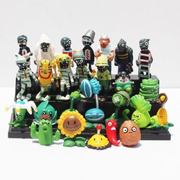 Wholesale Plant Vs - Plants vs Zombies PVC Action Figures PVZ Plant + Zombies Collection Figures Toys Gifts 10 styles can choose