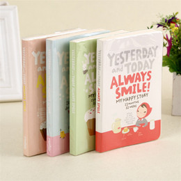 Wholesale Girls Journal - Wholesale- 2016 Cute Papelleria Scrapbooking Notebook Planner Supplies Red Hat Girl Agenda Day Journal Record Schedule Stationery Notebook