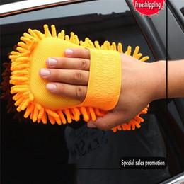 Acessórios de lavagem de carro on-line-2017 Chegam Novas Hot Auto Esponja de Lavagem Do Carro Microfibra Chenille Cleaner Acessórios Limpo Frete Grátis