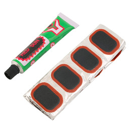 Wholesale Bike Tire Patches - 48pcs Bike Tire Bicycle Kit Patches Repair Glue Tyre Tube Rubber Puncture High Quality drop shipping H125