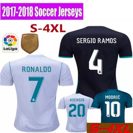 Wholesale Orange Real - 2017 home away jersey 2018 Ronaldo Real Madrid Soccer jersey MODRIC LUCAS V MORATA BALE KROOS ISCO BENZEMA football shirts Camisa new jersey