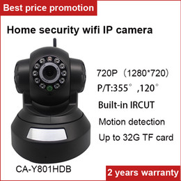 Wholesale Wireless Ip Kamera - VESCAM 720P wifi wireless ip camera WIFI ipcamera Home security support iphone and android phone P2P 32G SD card Ipcam ip kamera