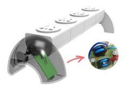 Wholesale International Plug Sockets - Household appliances 360 degree rotation quadruple socket, removable module socket, anti-lightning surge international 3C certification plug