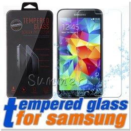 Protector de pantalla DHL Iphone 6s Plus templado Glass Note 5 iphone película 0.26mm 2.5D 9H a prueba de explosiones con un paquete para galaxia S6 desde fabricantes