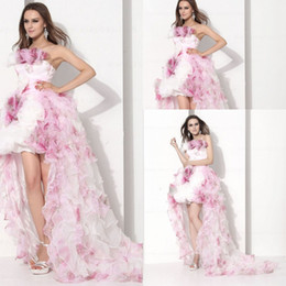 Wholesale Girls Feather Jacket - Custom Made Formal Quinceanera Pageant Dresses Ball Gown Strapless Sleeveless Backless Girl Vestidos De Fiesta Event Sexy Evening Prom Gowns