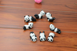 Wholesale Home Wares - Wholesale-10x Ceramic Ware Panda Chopstick Rest Porcelain Spoon Fork Knife Holder Stand Cute Lovely Animal Shaped Home Use Dinner Party