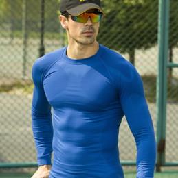 Toptan-Yeni spor erkekler uzun kollu basketbol koşu spor t gömlek erkekler termal kas vücut geliştirme spor sıkıştırma tayt gömlek nereden