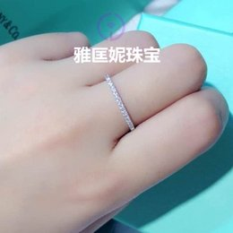 Wholesale Solitary Ring - Solitary white American original single OL essential row drilling ring full circle diamond ring ring female elegance