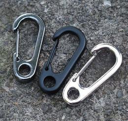 Wholesale Key Ring Clip Lock - 10pcs lot Stainless Steel Split Keychain Key Ring Clasps Clips Hook