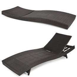 Wholesale Outdoor Wicker Rattan Chairs - BCP Outdoor Patio Furniture Wicker Rattan Adjustable Pool Chaise Lounge Chair