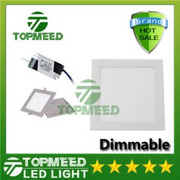 Wholesale Ceiling Dimmable - Dimmable Led Panel Light SMD 2835 3W 9W 12W 15W 18W 21W 25W 2200LM 110-240V Led Ceiling lights spotlight downlight lamp + driver
