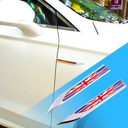 Wholesale Uk Flag Sticker - 2X Car Auto Door Side Fender Trim England UK Britain Flag 3D Emblem Badge Blade Decal Sticker Accessories