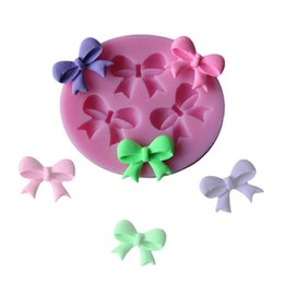 Wholesale Cheap Cake Fondant - Cheap New Bow knot Fondant Cake Mmold Silicone Cookie Cutter Cookie Cake Décor Chocolate Mold Pastry Mould