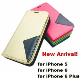 Wholesale Thin Magnetic Case Iphone - Newest Ultra Thin Diamond Shaped Stand Wallet PU Leather Case Cover With Magnetic Card Slot Photo Frame For iphone 6 plus iphone 5s
