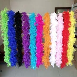 Wholesale Cheap Christmas Party Decorations - Cheap Feather Boas 2M Marabou Feather Boa Strip for Wedding Marabou Feather Boa Scarf Many Colors Available Fast Shipping