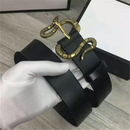 Wholesale Novelty Gift Packaging - Famous brand Snake buckle belt designer luxury high quality belts for men business waist ceinture With Gift Package