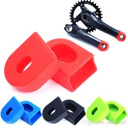 Wholesale Bike Crank Cover - Mountain Bikes MTB Road Bicycle Cycling Crankset protector Bicycle Crank Silicone Protective Sleeve Cover 7 Colors