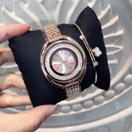 Wholesale Japan Roll - 2017 wholesale Luxury Women Watches Rose gold Quartz Japan Movement Dress Watch with Rolling diamond Bracelet High Quality Lady Brand Watch
