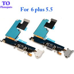 Wholesale Headphone Repair - New Dock Charging Port Headphone Jack Mic Connector Flex Cable For iPhone 6 6s Plus 5.5 inch Repair parts